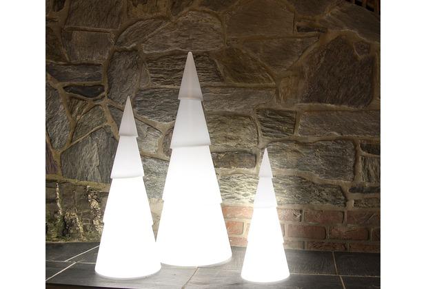 8 Seasons Shining Christmas Tree, weiß, 75 cm Höhe, Ø 29 cm