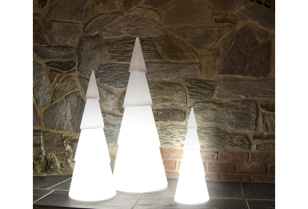 8 Seasons Shining Christmas Tree, weiß, 100 cm Höhe, Ø 39 cm