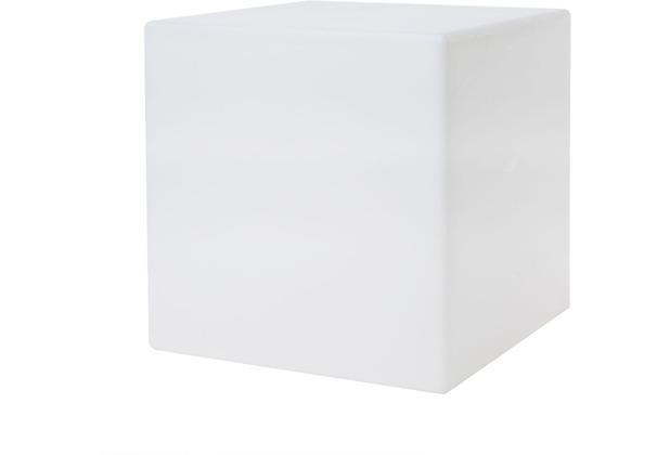 8 Seasons Shining Cube 33 cm weiß