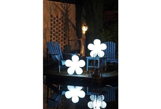 8 Seasons Shining Flower weiß Ø 40 cm