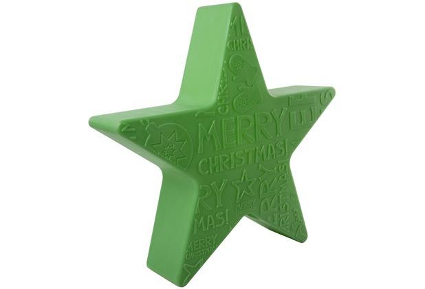 """8 Seasons Shining Star \""""Merry Christmas\"""" Ø 60 cm grün"""