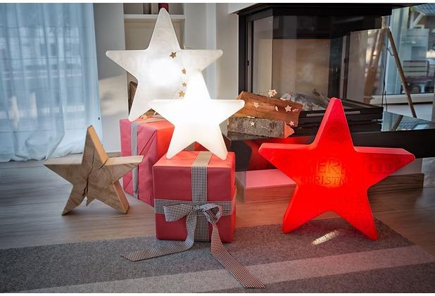 "8 Seasons Shining Star \""Merry Christmas\"" Ø 60 cm rot"