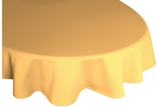 adam Uni Collection 100% Bio-Baumwolle Tischdecke 145x220 oval gelb