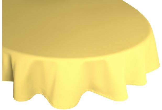 adam Uni Light Collection 100% Bio-Baumwolle Tischdecke 145 rund hellgelb