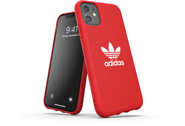 adidas OR Moulded Case Canvas FW19 for iPhone 11 scarlet
