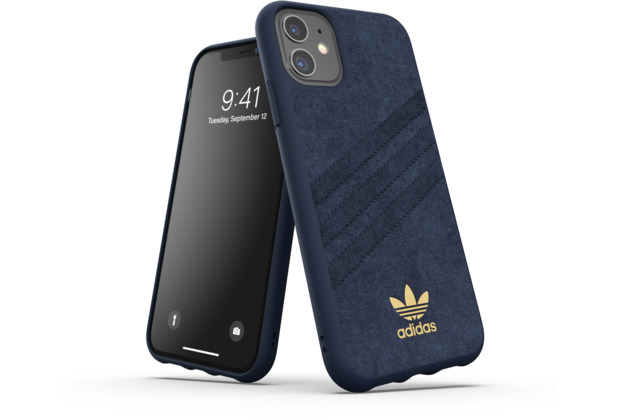 adidas OR Moulded Case Ultrasuede FW19 for iPhone 11 collegiate royal