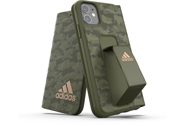 adidas SP Folio Grip Case Camo FW19 for iPhone 11 tech olive