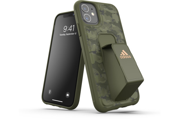 adidas SP Grip Case Camo FW19 for iPhone 11 tech olive