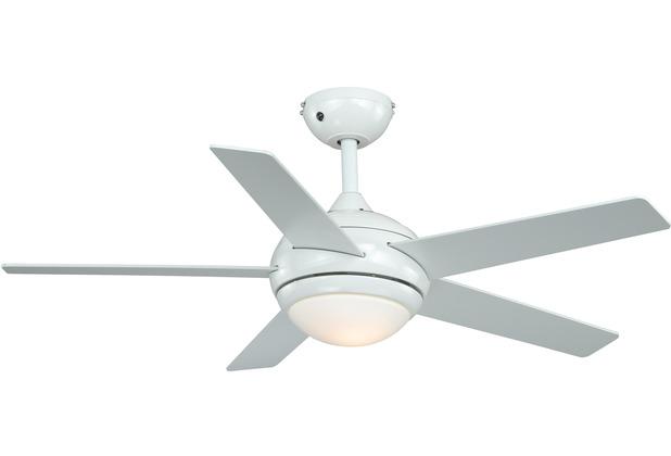 AireRyder Fresco Deckenventilator Weiß mit Wendeflügeln in Weiß / Kiefer 112 cm Durchmesser