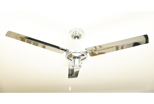 AireRyder Zephyr Deckenventilator mit Industrie-Design, Farbe Chrom, Durchmesser 122 cm