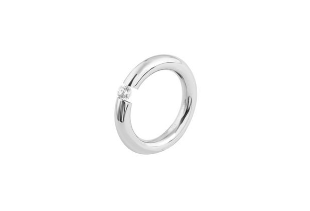 Akzent Damen-Ring aus Edelstahl silberfarbig 5060042-62