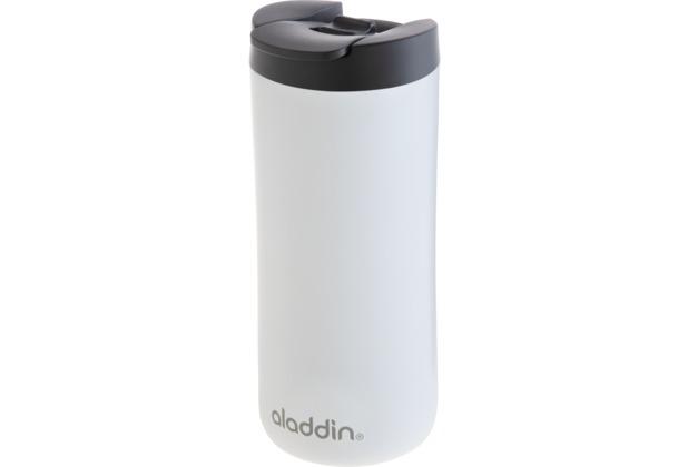 aladdin Isolierbecher 350ml weiß aus Edelstahl Thermobecher 100% auslaufsicher