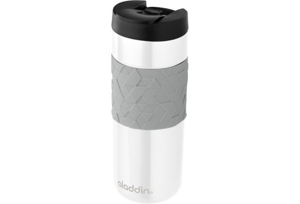 aladdin Isolierbecher Easy Grip 470ml weiß aus Edelstahl Thermobecher 100% auslaufsicher