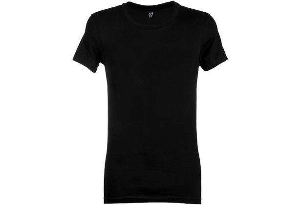 Alan Red JAMES T-SHIRT, SLIMFIT, low O-NECK black XL
