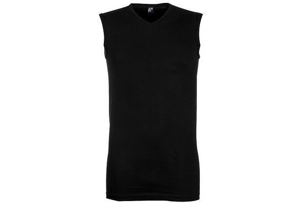 Alan Red MINTO UNTERHEMD, SLIMFIT, V-NECK, armlos black S