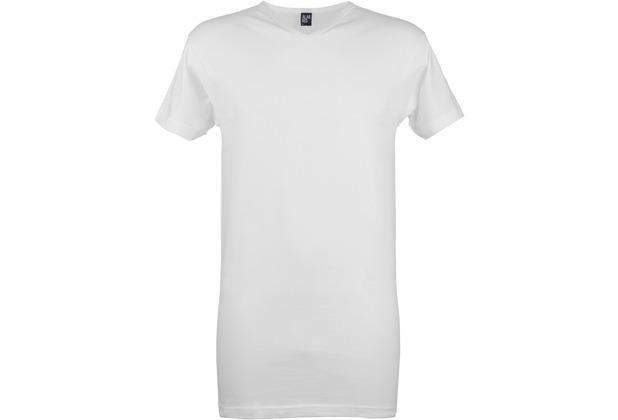 Alan Red VERMONT LONG T-SHIRT, V-Neck, EXTRA LONG 2er Pack white M