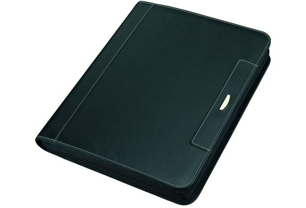 Alassio Tablet-Mappe A4 LOMBARDO Mikrofaser schwarz
