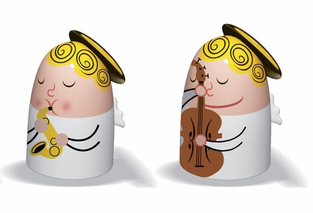 Alessi Figur Engel Gitarre und Trompete - 2er Set