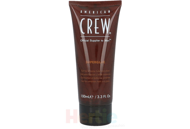 American Crew Classic Superglue Official Supplier to Men - Gel for Extreme Hold and Shine 100 ml
