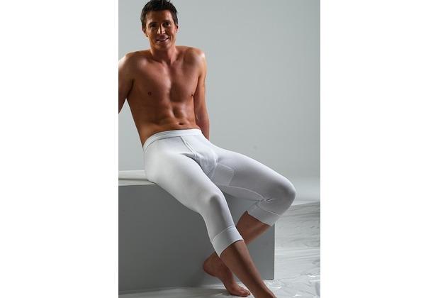 AMMANN Hose 3/4 lang mit Eingriff, Serie Doppelripp 2-fädig Exquisit, weiß 5