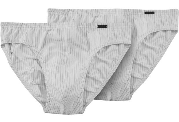 AMMANN Mini-Slip, Serie Smart & Stripes, weiß Gr. 4 2er-Set