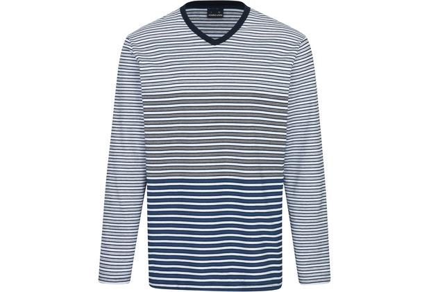 AMMANN Shirt 1/1 Arm, V-Ausschnitt, dunkelblau S