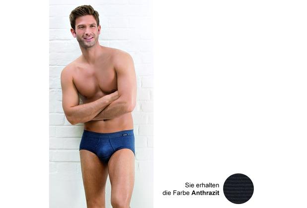 AMMANN Slip mit Eingriff, Serie Jeans, anthrazit Gr. 5