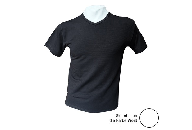 AMMANN V-Shirt, Serie Cotton & More, weiß 5