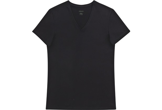 AMMANN V-Shirt, Serie Organic de Luxe, schwarz 5