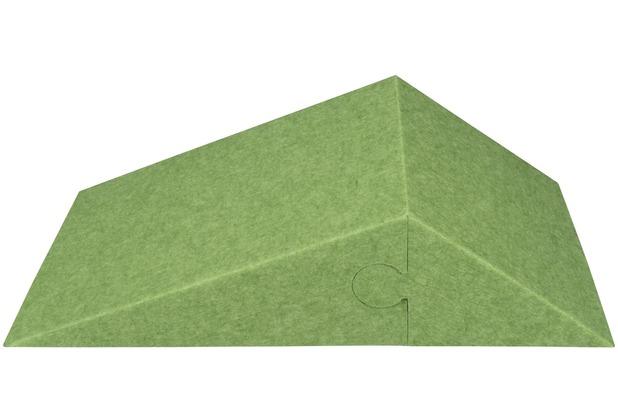 Amstyle 3D Akustik-Wandpaneel CALM 60,5x30,5x15cm Schalldämmung Grün mit Stoffbezug, Schallschutz für die Wand, Schallabsorber Platten Büro, Akustikpaneel farbig, Design Schalldämpfer Absorber grün