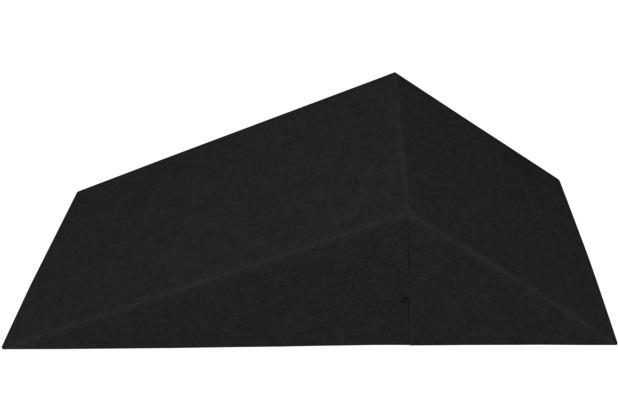 Amstyle 3D Akustik-Wandpaneel CALM 60,5x30,5x15cm Schalldämmung Schwarz mit Stoffbezug, Schallschutz für die Wand, Schallabsorber Platten Büro, Akustikpaneel farbig, Design Schalldämpfer Absorber schwarz