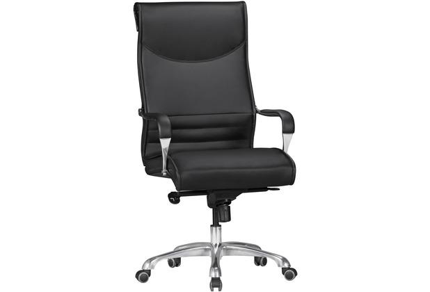 Amstyle Bürostuhl BIGBOSS Bezug Kunstleder Schwarz Schreibtischstuhl bis 150 kg, XXL Design