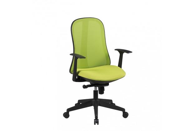 Amstyle Bürostuhl STYLE Stoffbezug Grün Schreibtischstuhl Design Chefsessel Drehstuhl Synchronmechanik & Armlehne