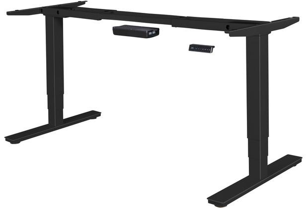 Amstyle elektrisch höhenverstellbares Tischgestell schwarz Gestell mit Memory Funktion