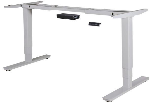 Amstyle elektrisch höhenverstellbares Tischgestell silber Gestell mit Memory Funktion, 63 - 128 cm Silber