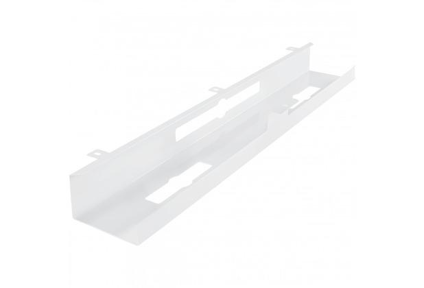 Amstyle Kabelkanal Schreibtisch 80x7x13 cm breit Untertisch Kabelführung weiß