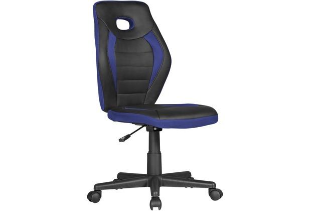 Amstyle Kinderschreibtischstuhl LUAN schwarz/blau für Kinder ab 6 mit Lehne, Kinderdrehstuhl ergonomisch