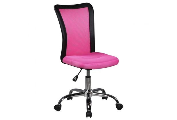 Amstyle Kinderschreibtischstuhl LUKAS Pink für Kinder ab 6 mit Lehne & Weichbodenrollen Jugendstuhl