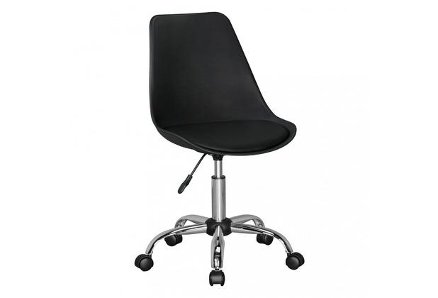 Amstyle KORSIKA   Drehstuhl Kunstleder Schwarz   Schreibtischstuhl Rückenlehne verstellbar