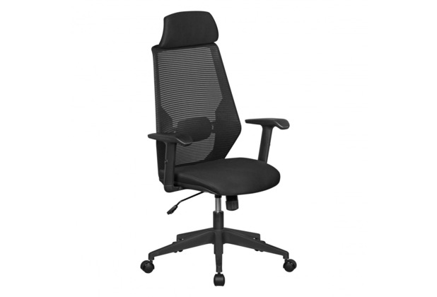 Amstyle NetStar Bürostuhl Stoff-Sitzfläche in schwarz