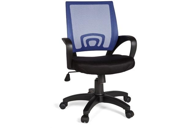 Amstyle Rivoli Bürostuhl Stoff / Netz Blau