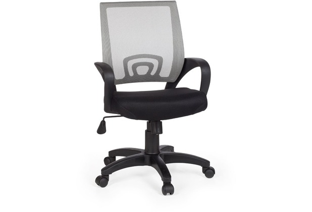 Amstyle Rivoli Bürostuhl Stoff / Netz Grau