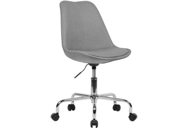 Amstyle Schreibtischstuhl Hellgrau Stoff, mit Lehne, mit 110 kg Maximalbelastung, mit Rollen, drehbar grau