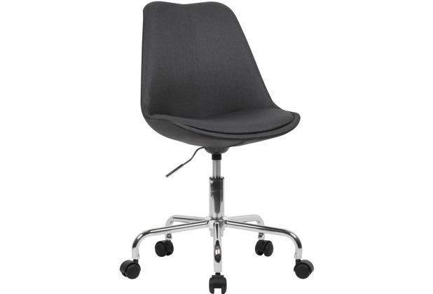 Amstyle Schreibtischstuhl Schwarz Stoff, Design Drehstuhl mit Lehne, mit Rollen, Stuhl drehbar schwarz