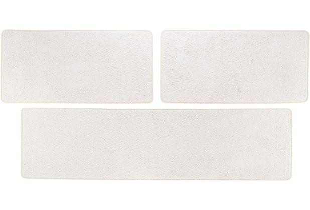 Andiamo Bettumrandung Shaggy creme-weiß 2x 67 cm x 140 cm 1x 67 cm x 250 cm