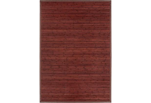 Andiamo In- und Outdoorteppich Bambus rot uni 133 x 190 cm