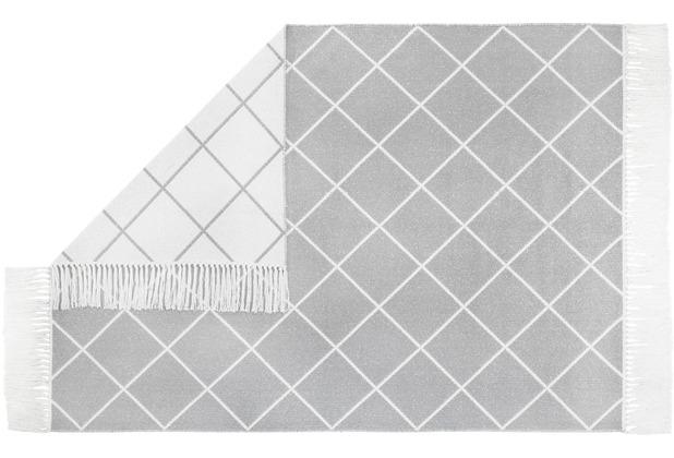 Andiamo Teppich Glitter, weiß-grau 140 cm x 200 cm