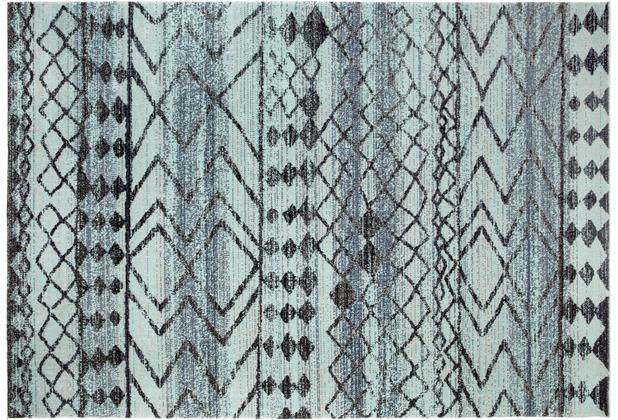 Andiamo In- & Outdoorteppich Bonnie blau-anthrazit gemustert 120 x 170 cm