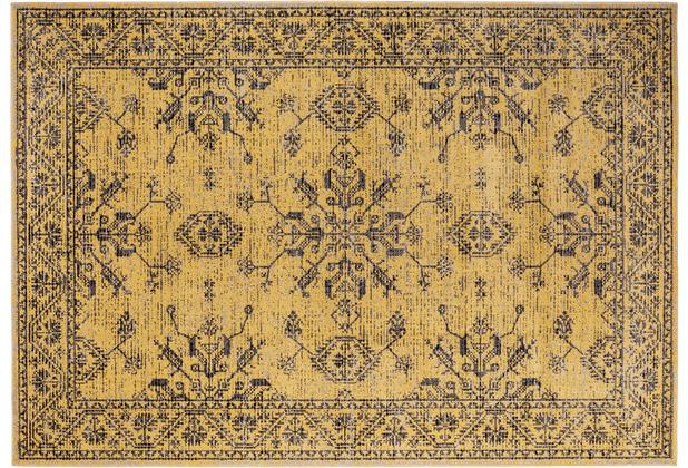 Andiamo In- & Outdoorteppich Bonnie gelb-braun gemustert 120 x 170 cm