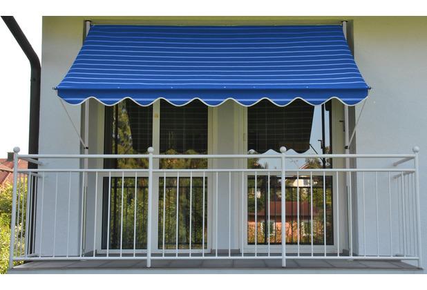 Angerer Klemmmarkise Exklusiv blau gestreift 150 cm breit
